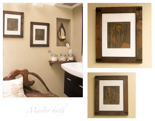 Diy frame art yourself creative breath diy frame art yourself masterbath i make it a point to buy something pretty for my home on every vacation very often that turns out to be a painting solutioingenieria Gallery